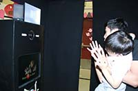 An open booth rental available from D4 Photobooths.